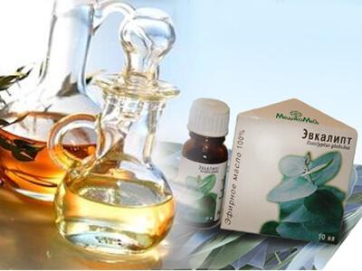 Ефірне масло евкаліпта від нежитю в ніс: застосування