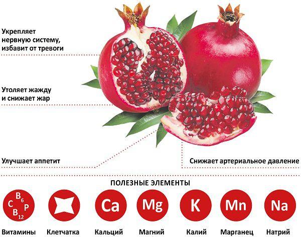 Гранат фрукт корисні властивості для організму і протипоказання
