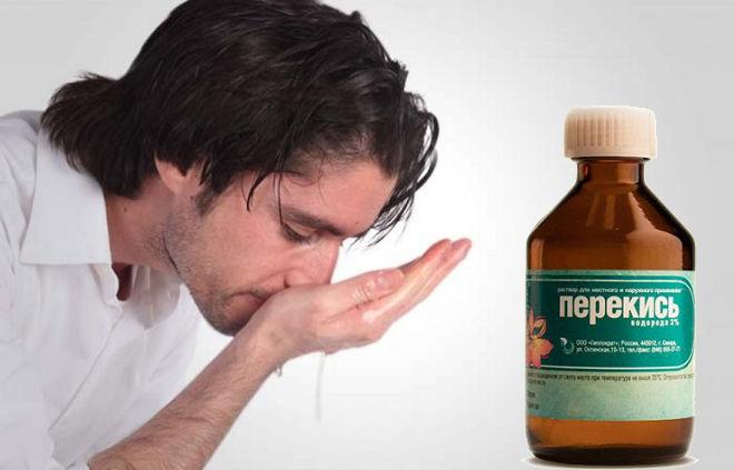 Лікування нежиті перекисом водню: як капати, можна