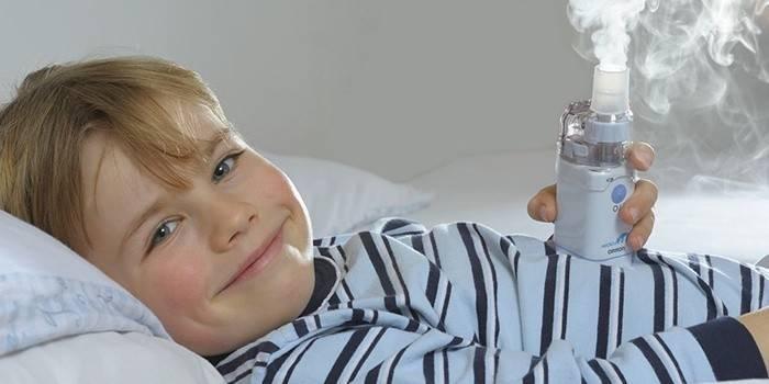 Інгаляції з Лазолваном дитині: призначення, приготування розчину і протипоказання