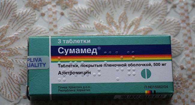 Інструкція по застосуванню препарату Сумамед при ангіні у дорослих і дітей
